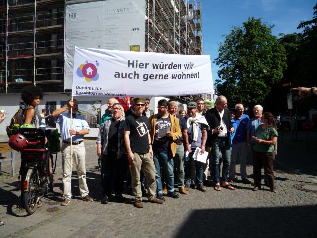 6. Juli 2017, Kundgebung vom Bündnis bezahlbarer Wohnraum