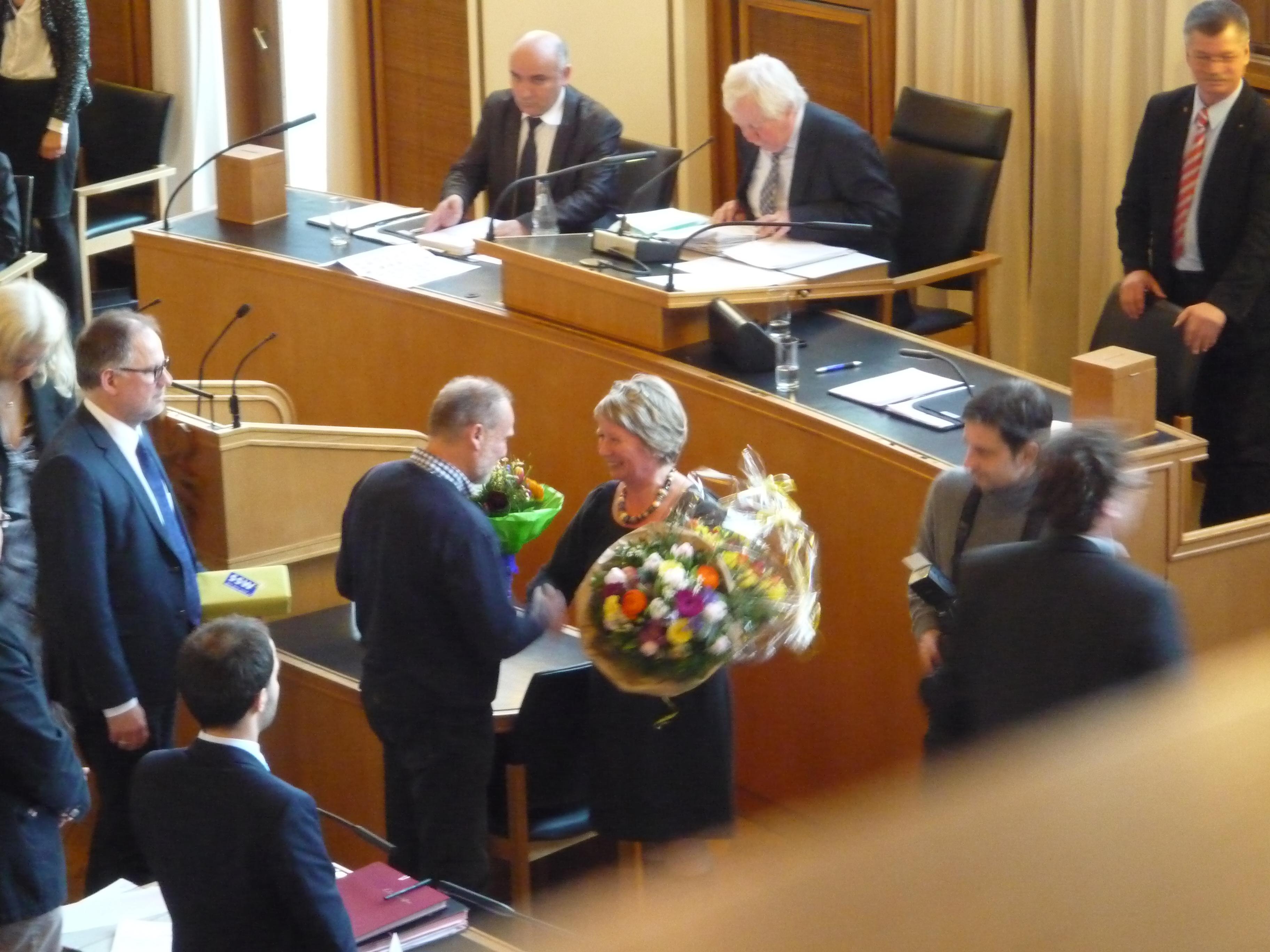 Doris Grondke wird zur Baudezernenting gewählt.