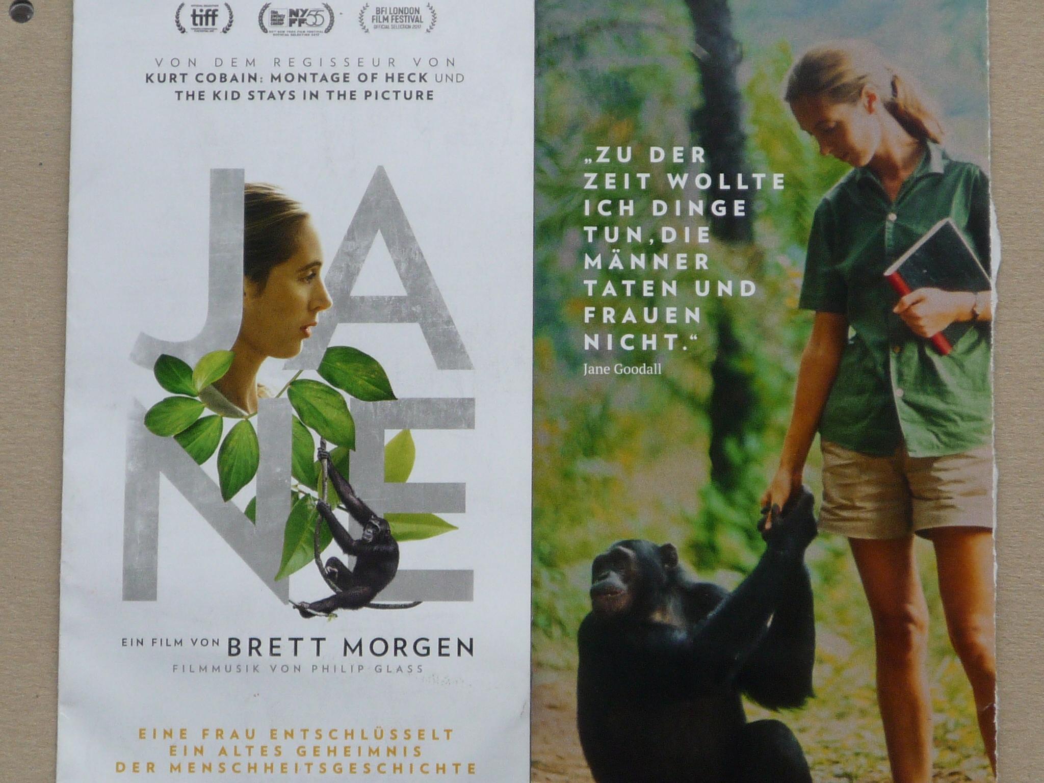 Flyer für den Film JANE